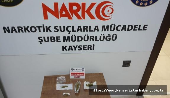 Kayseri'de uyuşturucudan 9 yakalama 1 gözaltı