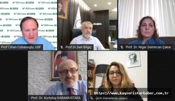 """Kayseri Üniversitesi Rektörü, Online Düzenlenen """"Rektörler Paneline"""" Katıldı"""