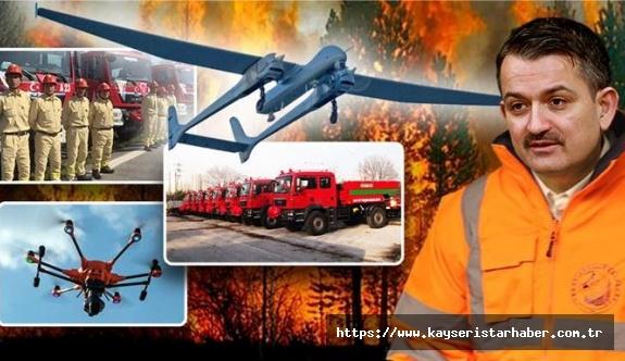 Orman yangınlarının tespitinde ilk kez İHA'lar kullanılacaks