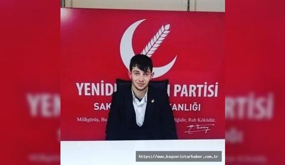 YRP Bünyan Gençlik Kolları başkanı kazada öldü