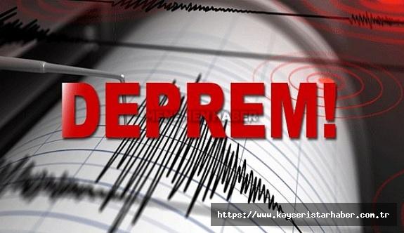 Muğla'nın Marmaris ilçesinde 5,6 büyüklüğünde deprem