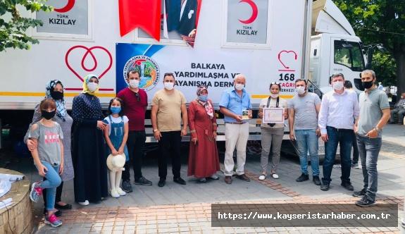 Balkaya Derneği'nden 2. kan bağışı