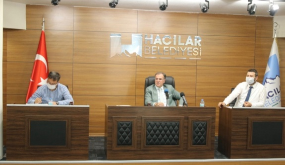 Hacılar Belediye Meclisi Temmuz ayı toplantısı yapıldı