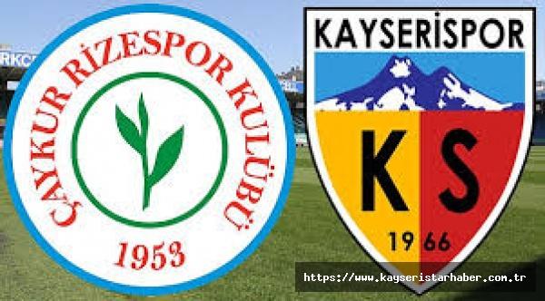Rizespor-Kayserispor : 3-2 (Maç sonucu)