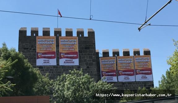 Tarihi Kayseri Kalesi'nde ligde kalma 'Teşekkürleri'
