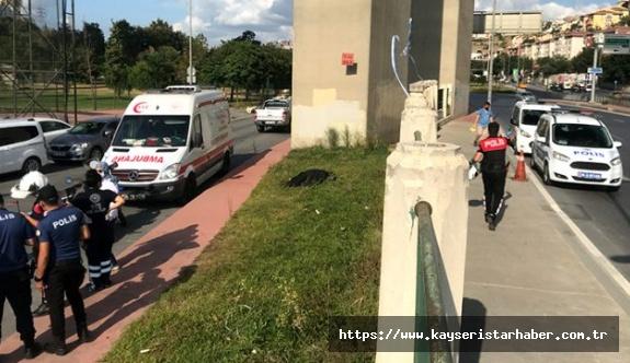 Aracını yol kenarına park eden şahıs, viyadükten atlayarak intihar etti
