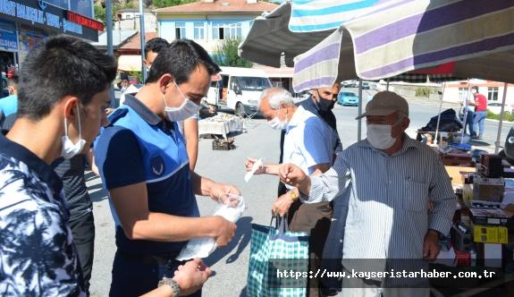 Bünyan'da virüse karşı mücadele sürüyor