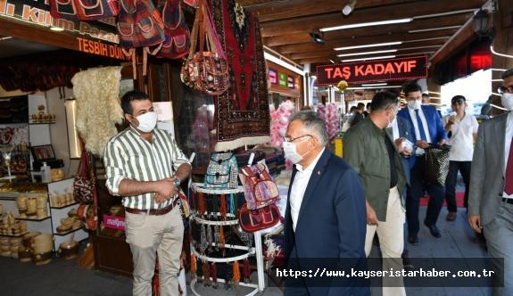 Büyükkılıç özellikle gurbetçilerin yoğunlukta olduğu Erciyes'te gurbetçilere hatırlatmalarda bulundu