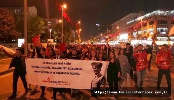 CHP Melikgazi, Kocasinan, Talas, Pınarbaşı Gençlik kollarından ortak tepki