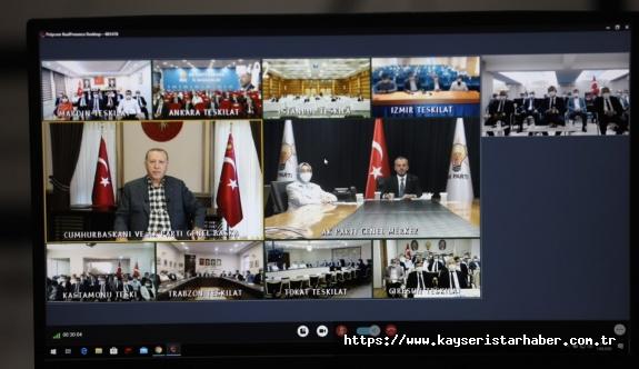 Cumhurbaşkanı Erdoğan ile Başkan Büyükkılıç arasında samimi bir sohbet