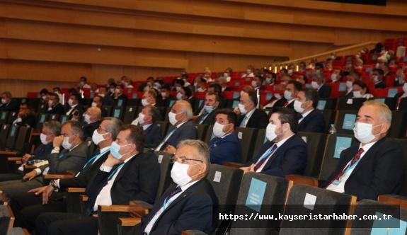 """Erdoğan ve Büyükkılıç'ın da  katıldığı toplantıda Özhaseki  """"pandemi döneminde belediyeciliği"""" anlattı"""