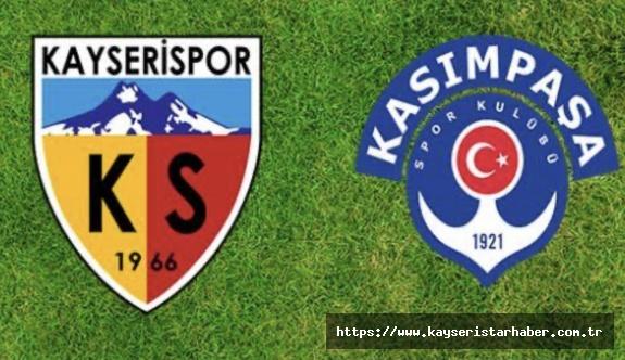 Kayserispor'un ilk rakibi Kasımpaşa oldu