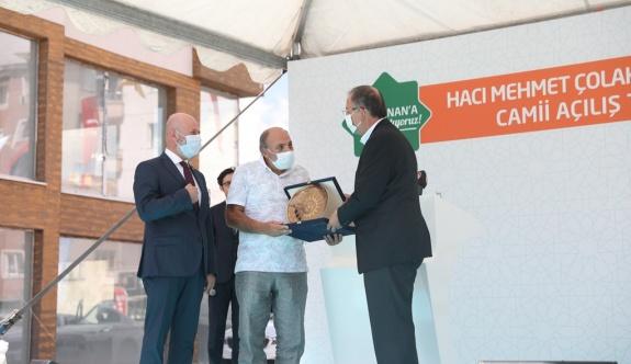 Kocasinan'da Hacı Mehmet Çolakbayrakdar Camii ibadete açıldı