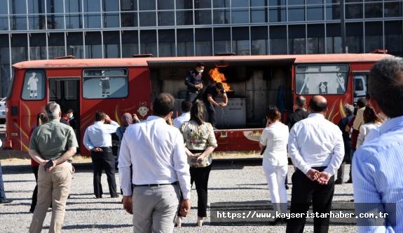 KTO personeli uygulamalı yangın tatbikatı yaptı