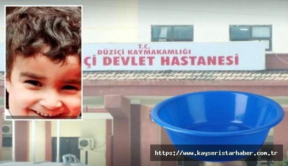 Leğendeki suda boğulma tehlikesi geçiren 4 yaşındaki çocuk, yaşam mücadelesini kaybetti