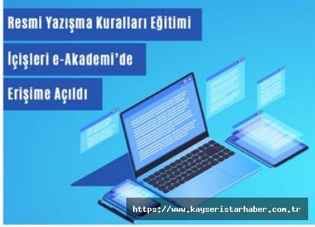 Resmi yazışma kuralları eğitimi İçişleri e-akademi'de erişime açıldı