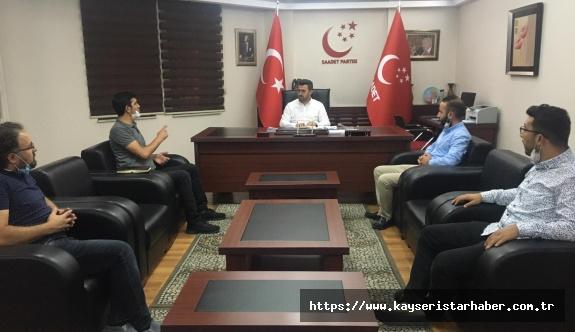 TEKDER Kayseri Şubesi'nin Saadet Partisi Kayseri Yeni İl Başkanı'na Hayırlı Olsun Ziyareti