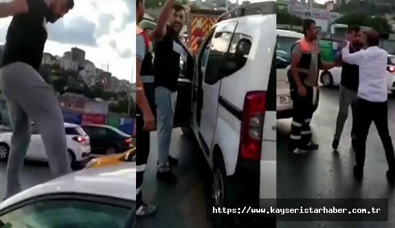Trafikte tartıştığı kadına saldıran şüpheli tutuklandı