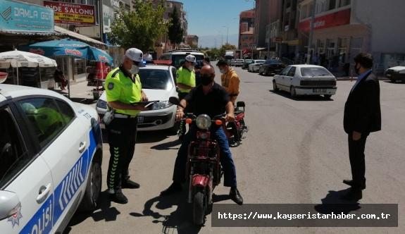 Yeşilhisar'da trafik denetimleri devam ediyor