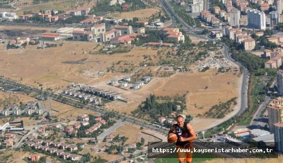 Ali Dağı'nın zirvesinde basketbol maçı