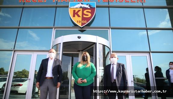 BAŞKAN BÜYÜKKILIÇ'TAN KAYSERİSPOR'A ZİYARET