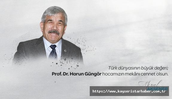 Meral Akşener'den ERÜ emekli öğretim üyesine başsağlığı mesajı