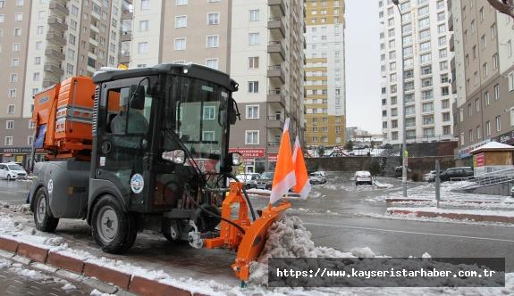 Talas'ta kış çalışmaları devam ediyor