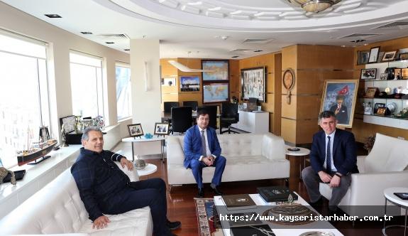 Kocaeli Üniversitesi Hukuk Fakültesi Dekanı Prof. Dr. Keskin'den Feyzioğlu'na nezaket ziyareti