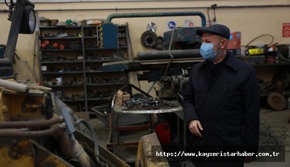 Kocasinan'ın Atölyeleri, Büyük Bir Sanayi Sitesi Gibi Çalışıyor