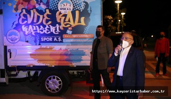 Başkan Büyükkılıç' tan Vatandaşlara Gece Sürprizi