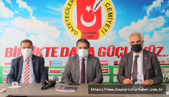 KTB Başkanı Recep Bağlamış Mustafa Alan ve Rıfat Alparslan  KGC'yi ziyaret etti
