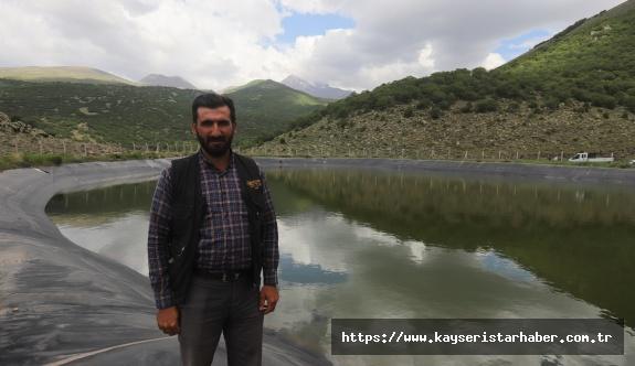 Büyükşehir'den Erciyes'in Zirvesinde Hayvanlar İçin 4 Ayrı Gölet