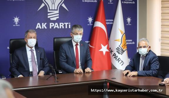 Başkan Büyükkılıç, Bakan Akar İle Birlikte Cumhurbaşkanı Erdoğan'ın Bayramlaşma Programına Katıldı