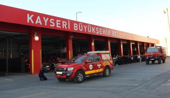 KAYSERİ İTFAİYESİ'NDEN BU KEZ MARMARİS'E 5 ARAÇ, 15 PERSONEL İLE DESTEK