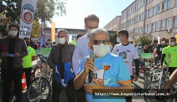 Başkan Büyükkılıç, Sağlık İçin 7 Kilometre Pedalladı