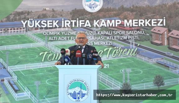 Büyükkılıç'tan 75 Milyon Tl'lik Erciyes Yüksek İrtifa Kamp Merkezi