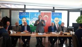 """Başkan Yalçın, Talas'taki okul müdürleriyle bir araya geldi: """"Eğitime desteği sistemleştirelim"""""""