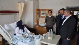 Kaymakam ve Başkan Hastaları Ziyaret Etti