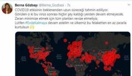 Berna Gözbaşı: Lütfen evde kalalım