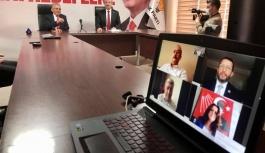 Siyasi parti il başkanları ile telekonferanslı bayramlaşma