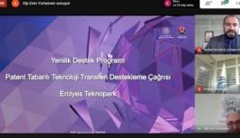 Erciyes Teknopark'ta Bilgilendirme Webinarı Düzenlendi