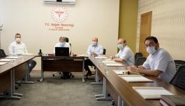 İl Sağlık Müdürü Benli, Özel Hastane yetkilileri ile görüştü