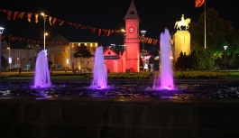 Büyükşehir, DMD Hastalığına Kayıtsız Kalmadı, Şehri Kırmızıya Bürüdü