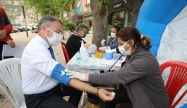 Başkan Özdoğan'dan Kan Bağışı
