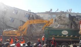 Kayseri Kızılay deprem bölgesinde