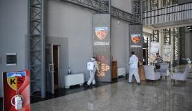 Kayserispor tesisleri dezenfekte edildi