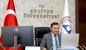 ERÜ Rektörü Çalış, Uluslararası Öğrenciler ile Bir Araya Geldi