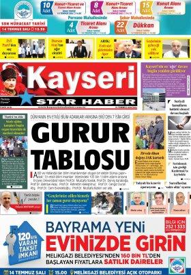 Kayseri Star Haber - 07.07.2020 Manşeti