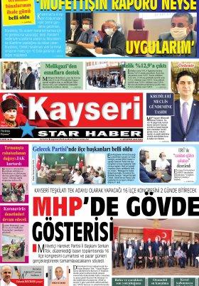 Kayseri Star Haber - 11.08.2020 Manşeti
