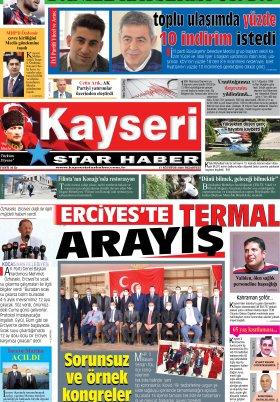 Kayseri Star Haber - 17.08.2020 Manşeti